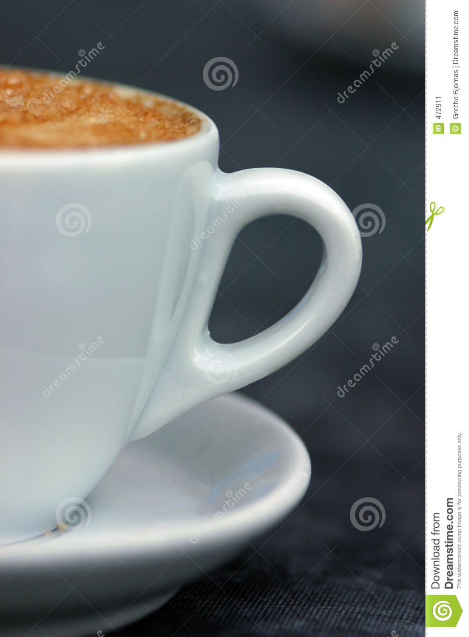 Download Half a cup of cappuccino? stock image. Image of italy, brown - 472911
