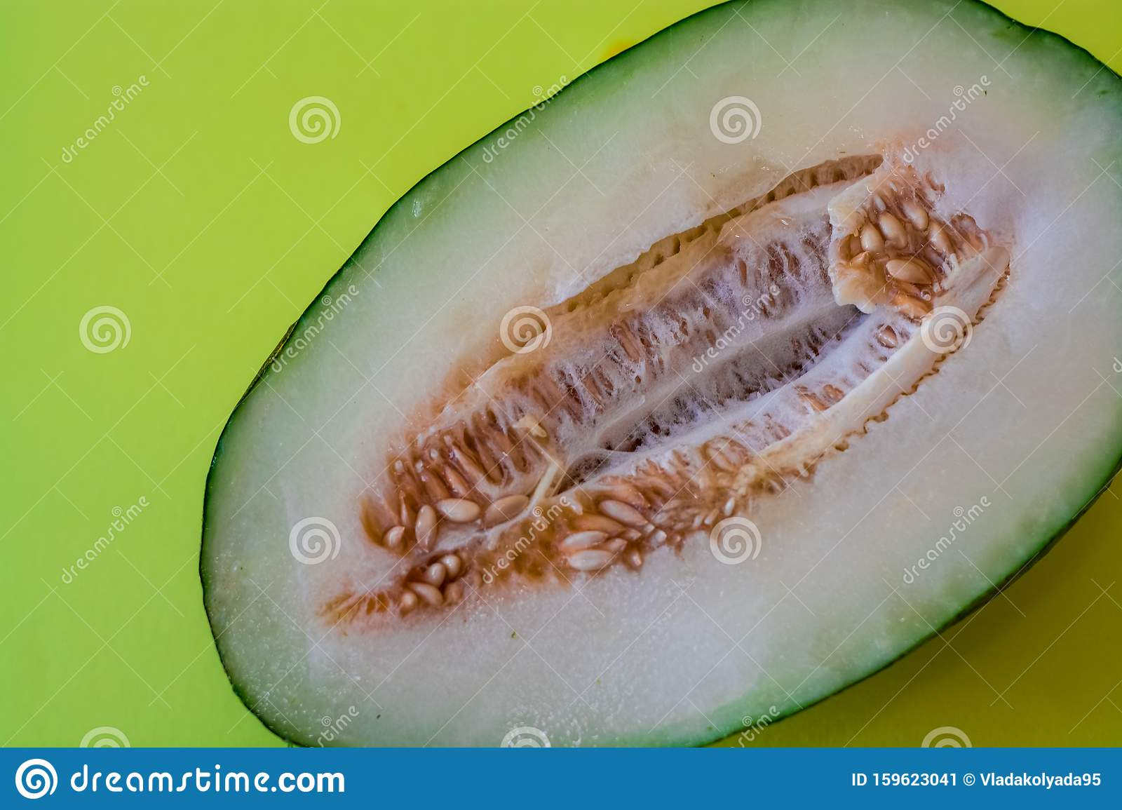 Half Of The Cut Ripe Melon With Seeds On One Ton Green Background Useful Fruit Summer Season Vitamins Stock Image Image Of Cantaloupe Melon 159623041 Read season 2 from the story cantaloupe by rindi009 with 4,002 reads. dreamstime com