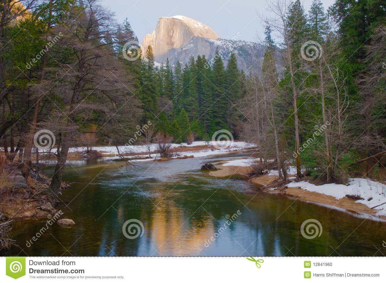 Download Half Dome stock photo. Image of river, merced, sequoia - 12841960
