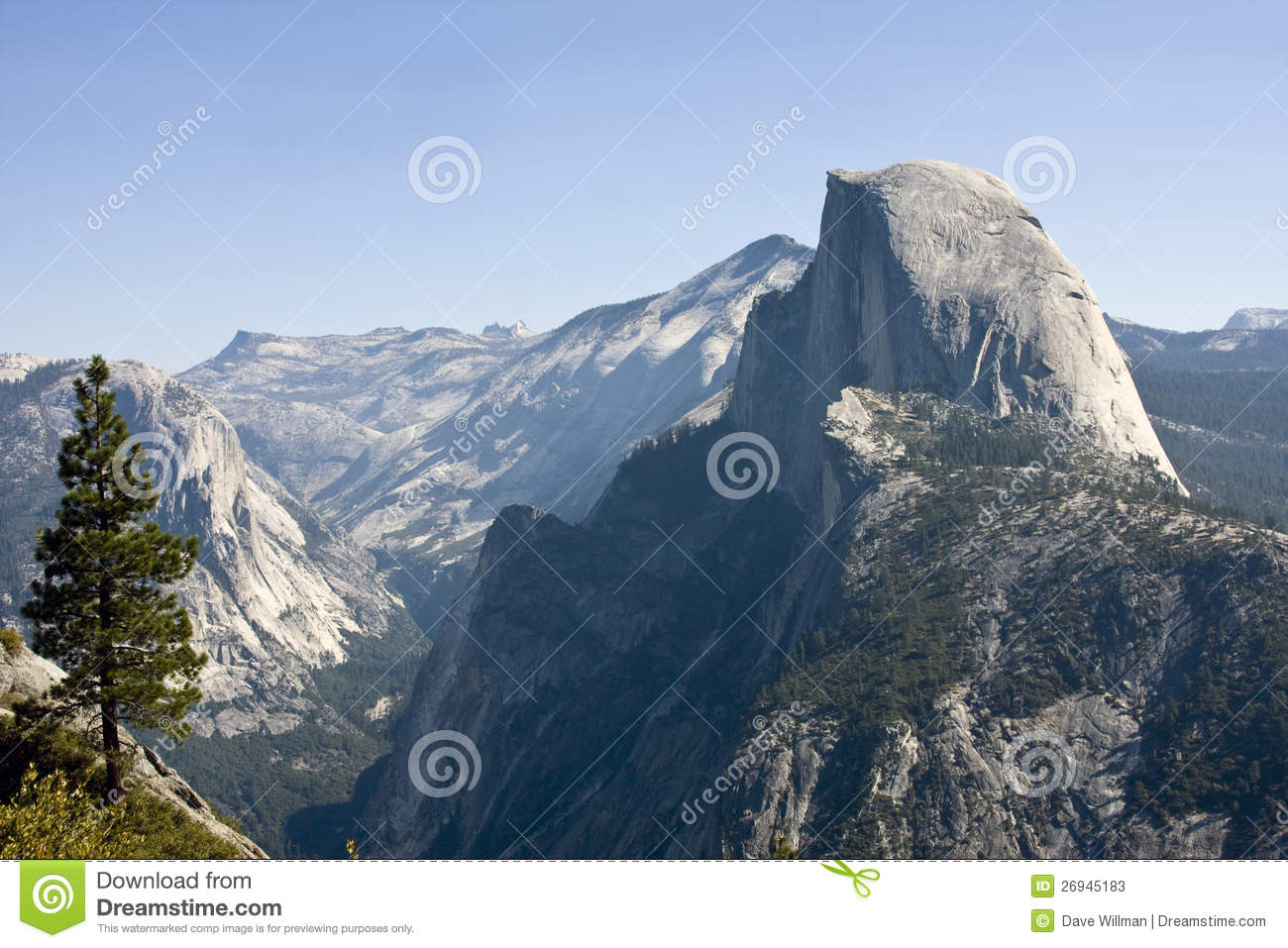 Download Half dome mountain stock image. Image of national, tourism - 26945183