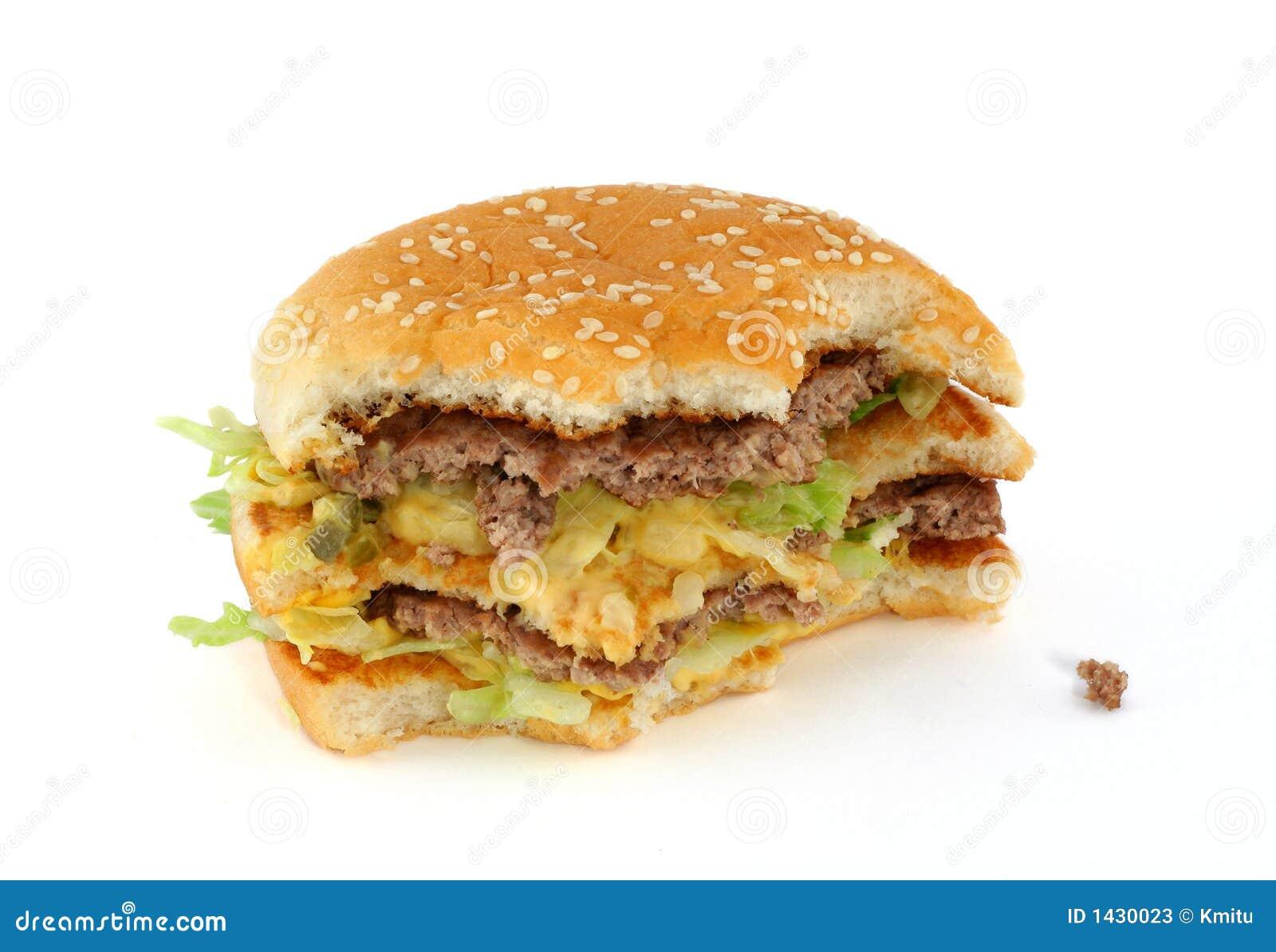 Half eaten Delicious Hamburger Stock Photos Image 1430023