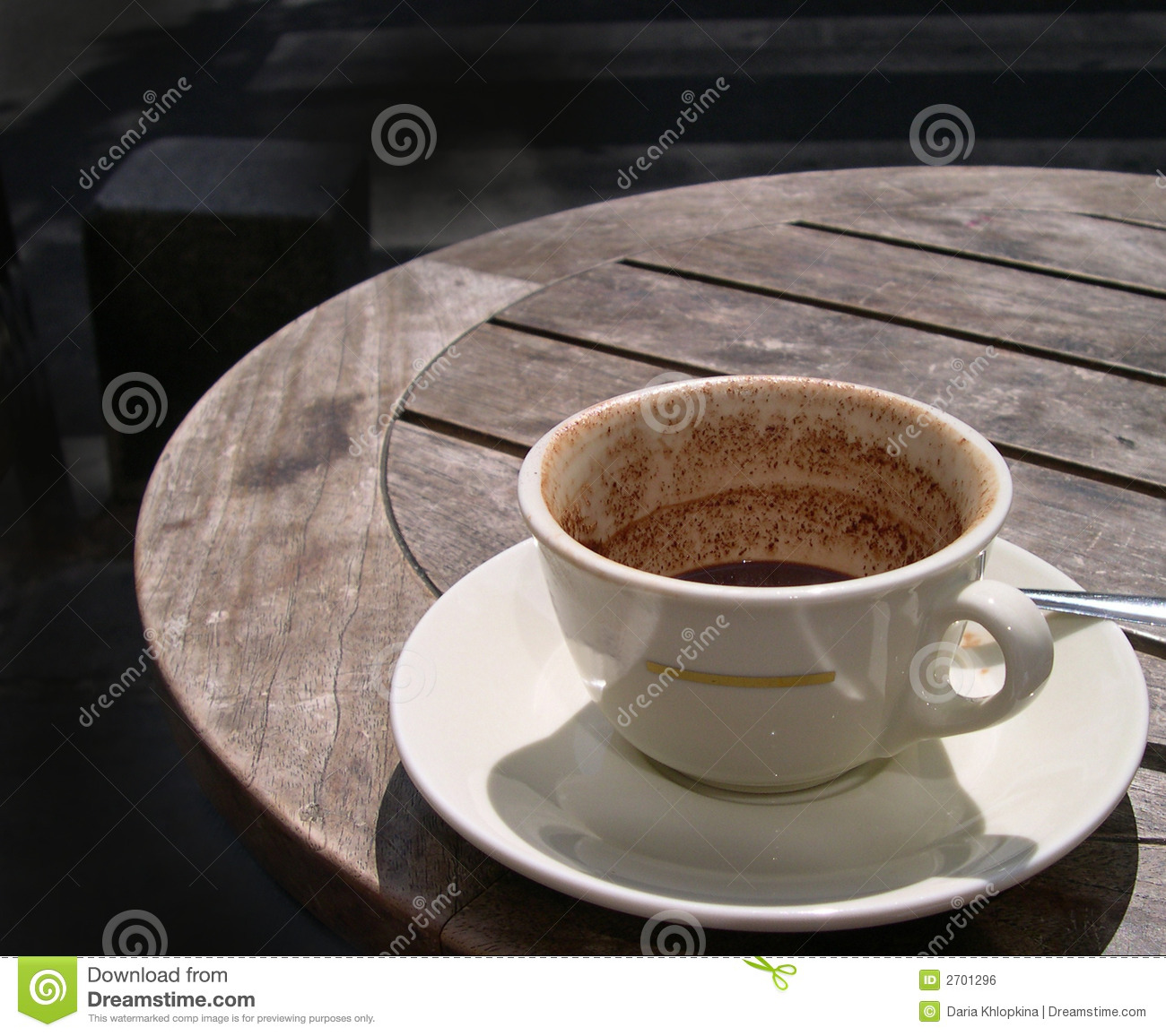 Half Empty Cup On A Cafe Table Stock Photo Image 2701296