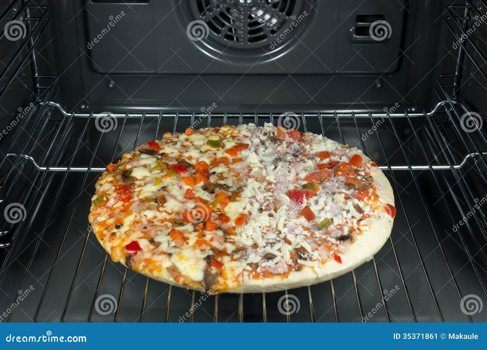 Half frozen pizza stock image. Image of quick, mushroom ...