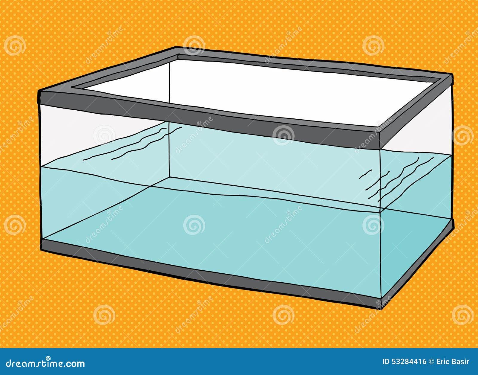 Fish tank clipart - Half Full Fish Tank Royalty Free Stock Image