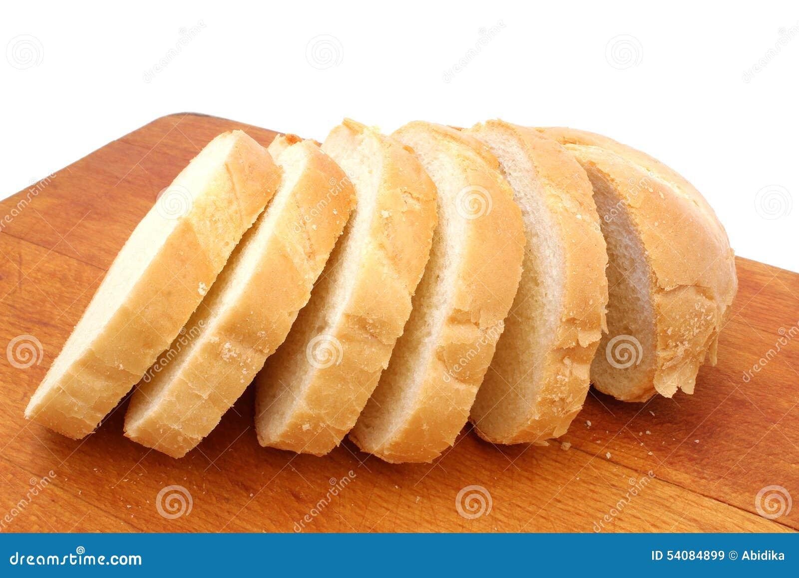 Half gesneden brood van brood
