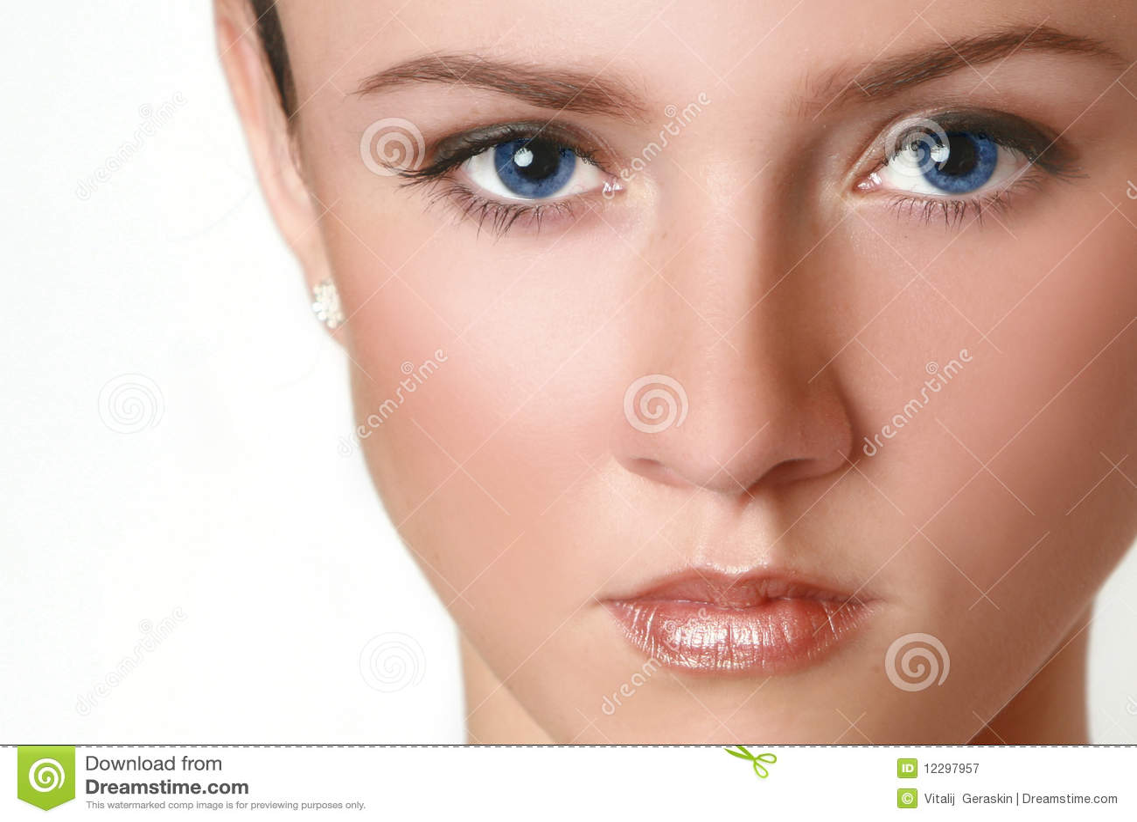 Half gezicht van vrouw met blauwe ogen royalty vrije stock fotografie afbeelding 12297957 - Ogen grappig ...
