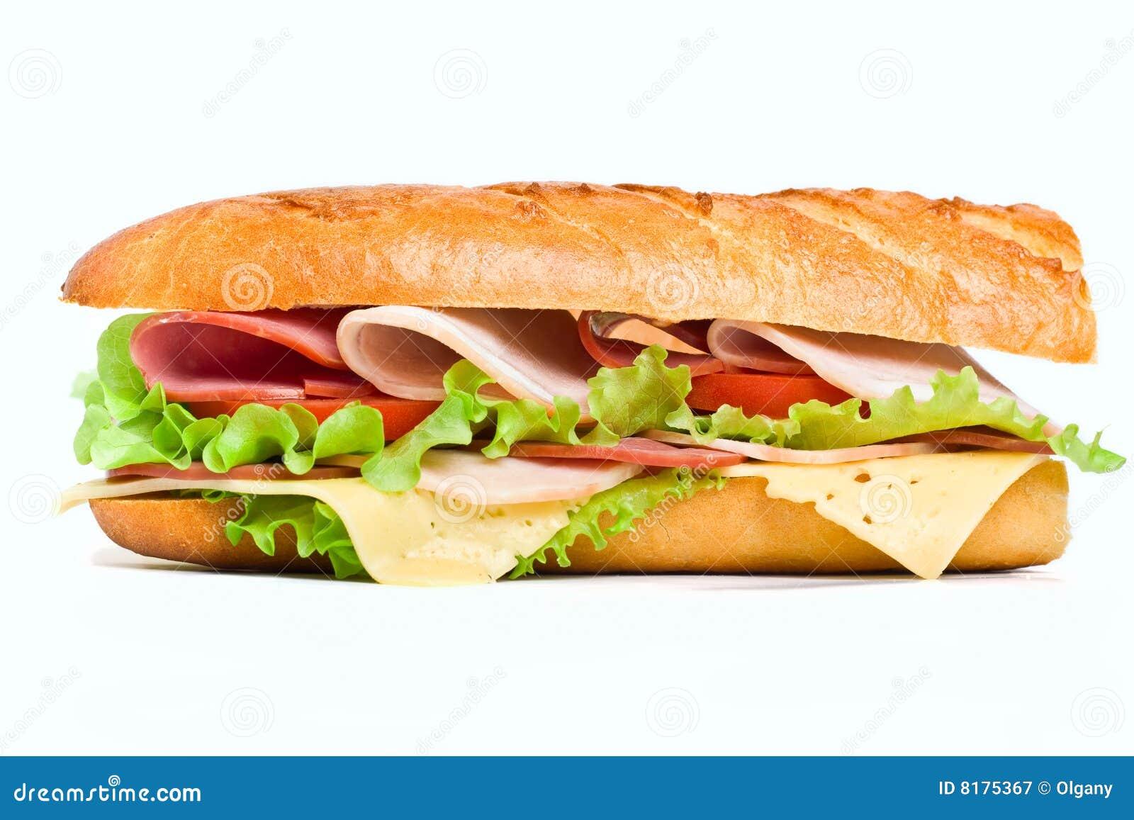 Half Of Long Baguette ... Subway Vector