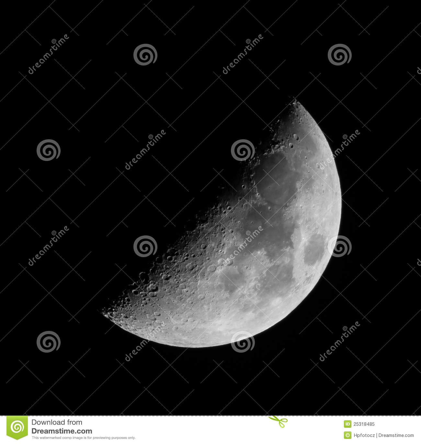 half moon in sky