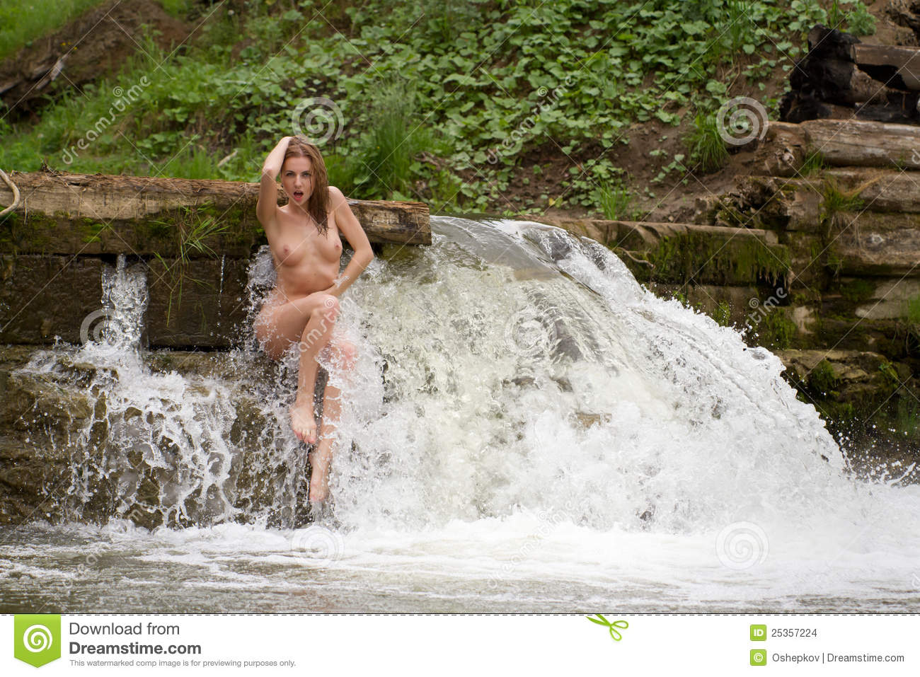 Phrase simply naked girl under a waterfall good