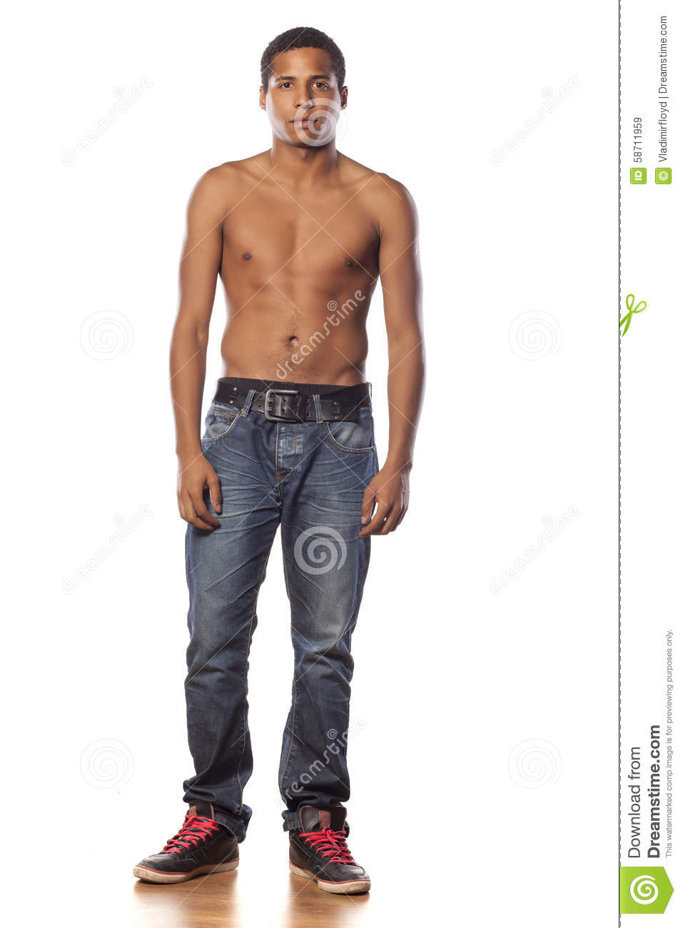 Half-Naked Man Stock Image Image Of Model, Cheerful - 58711959-9954