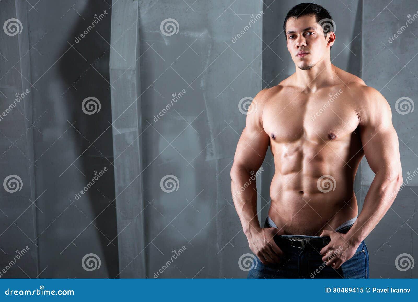 Sexy half naked man