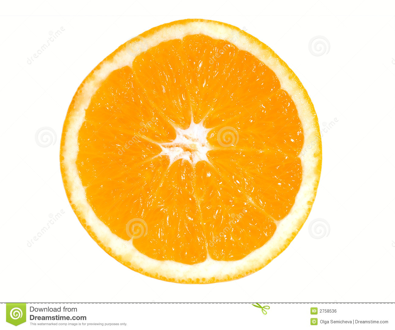 Half Of Orange Royalty Free Stock Image - Image: 2758536