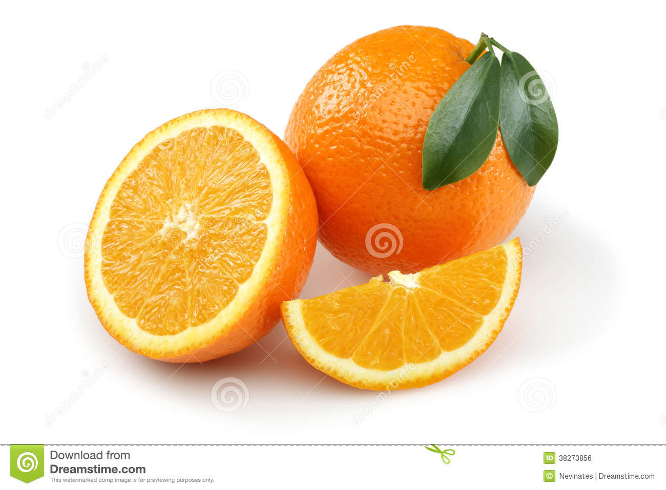 Half Orange And Orange Slice Royalty Free Stock Image ...
