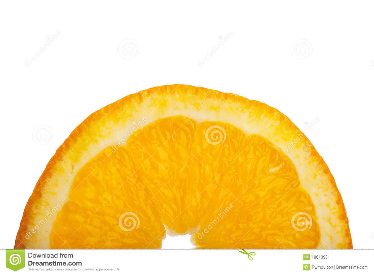 Half Of An Orange Slice Stock Image - Image: 18013961
