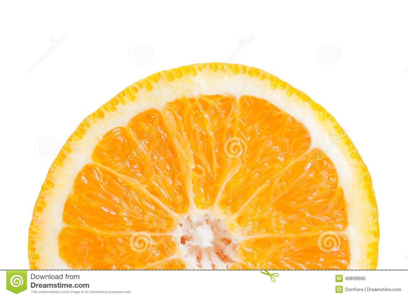 Half Orange Slice On White Background Stock Photo - Image ...