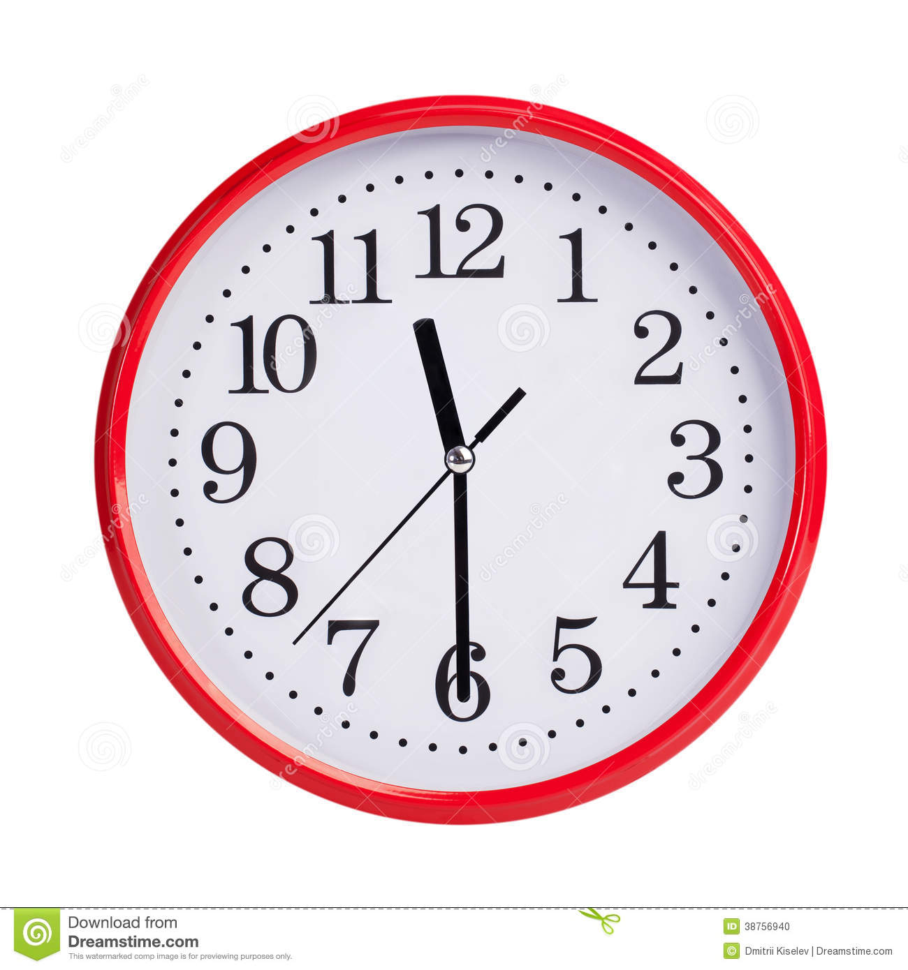 half past eleven on a round dial stock photo image 38756940 Control Panel Clip Art Safe Dial Clip Art