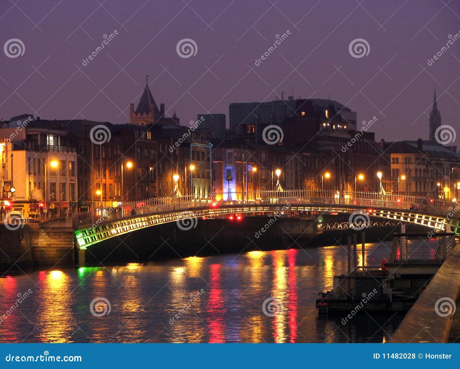 Half Penny Bridge By Night