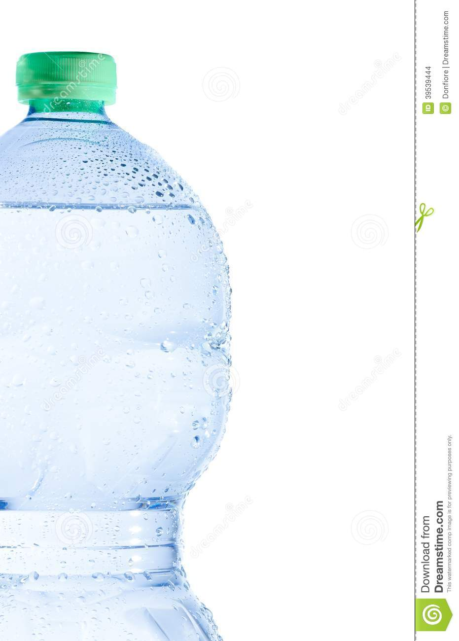 Download Half Plastic Bottle With Water And Drops, Concept Of Nutrition And Diet Stock Photo - Image of container, health: 39539444