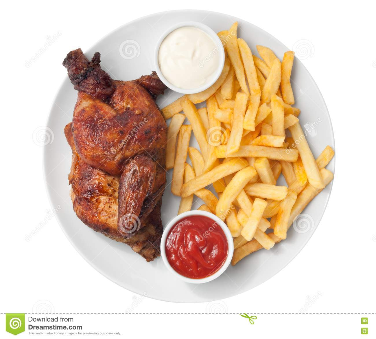 half roasted chicken and french fries stock photo image ketchup clipart free ketchup clipart black and white