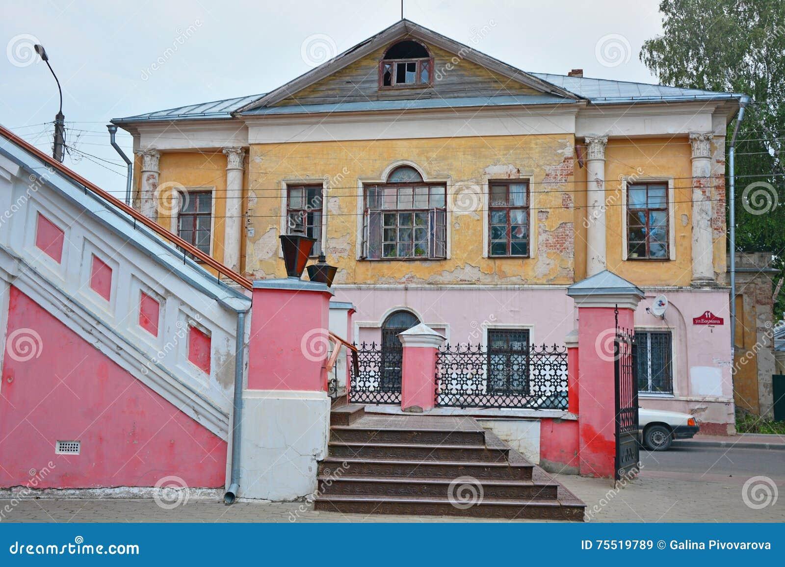 Half-ruined chambers of the tradeswoman Faleeva in Kaluga city, Russia