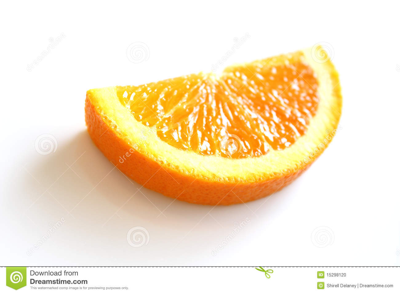 how to draw half an orange