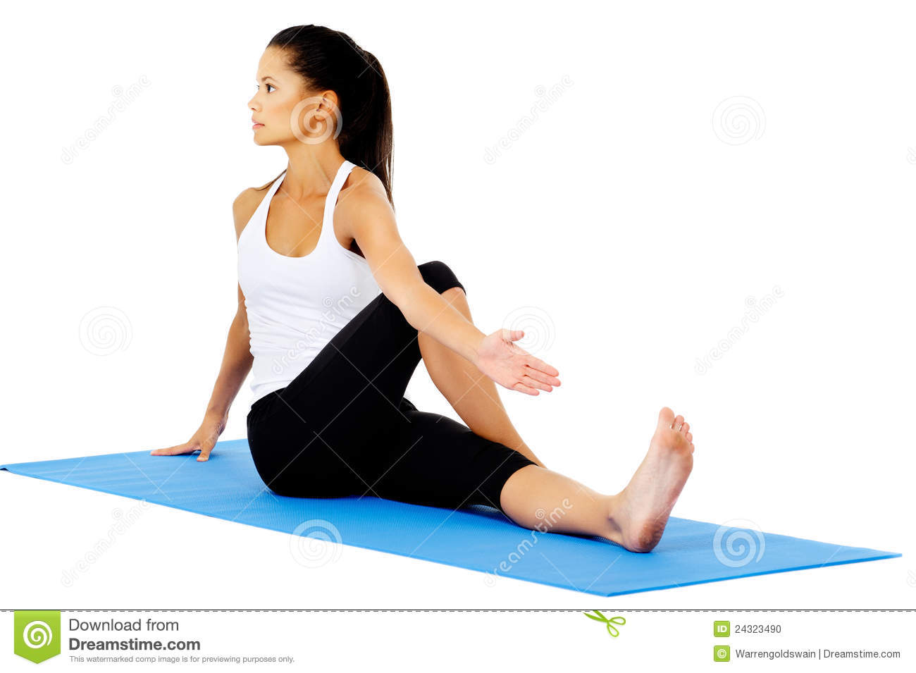 Half Spinal Stwist Stretch Stock Photo Image Of Person