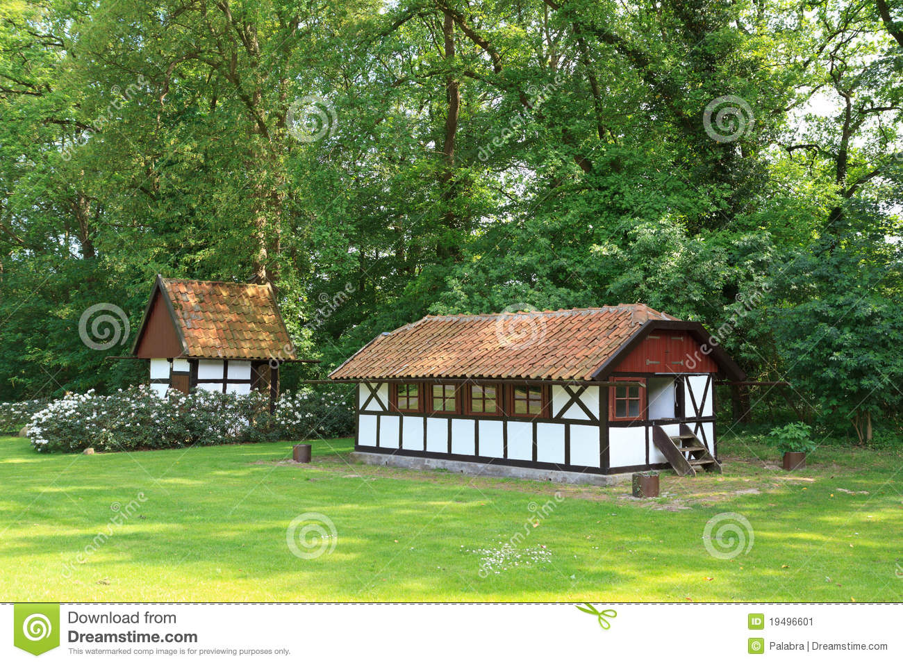 Half timbered farmhouse in germany 1 stock image image for Half timbered house plans
