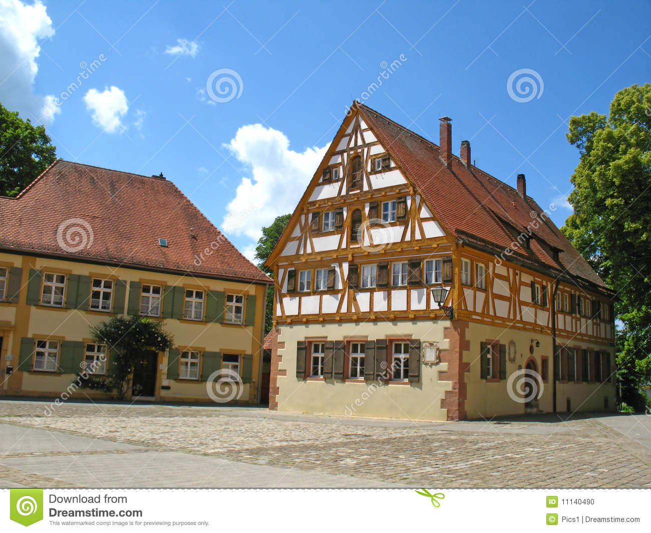 Half timbered house stock photo image 11140490 for Half timbered house plans