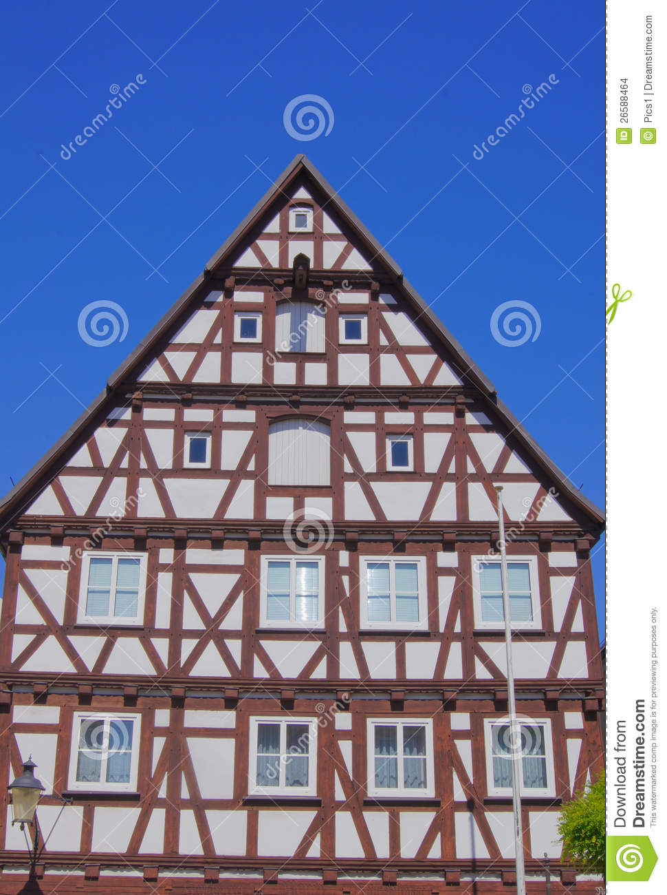 Half timbered house stock images image 26588464 for Half timbered house plans