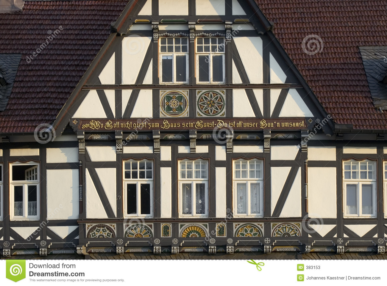 half timbered house stock image image of halftimbered 383153. Black Bedroom Furniture Sets. Home Design Ideas