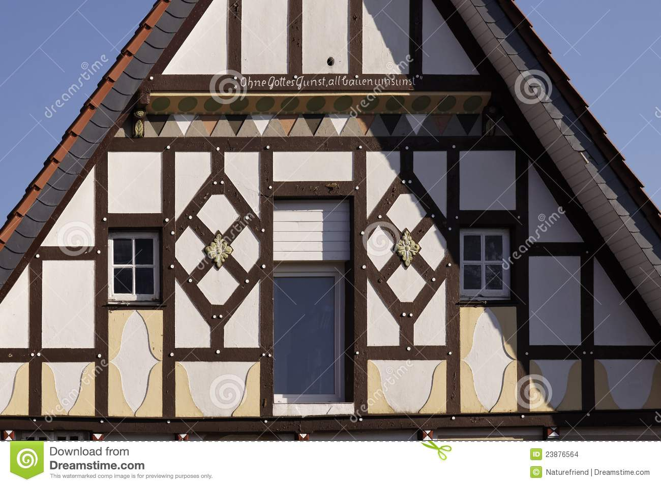 Half-timbered house in Dissen, Germany