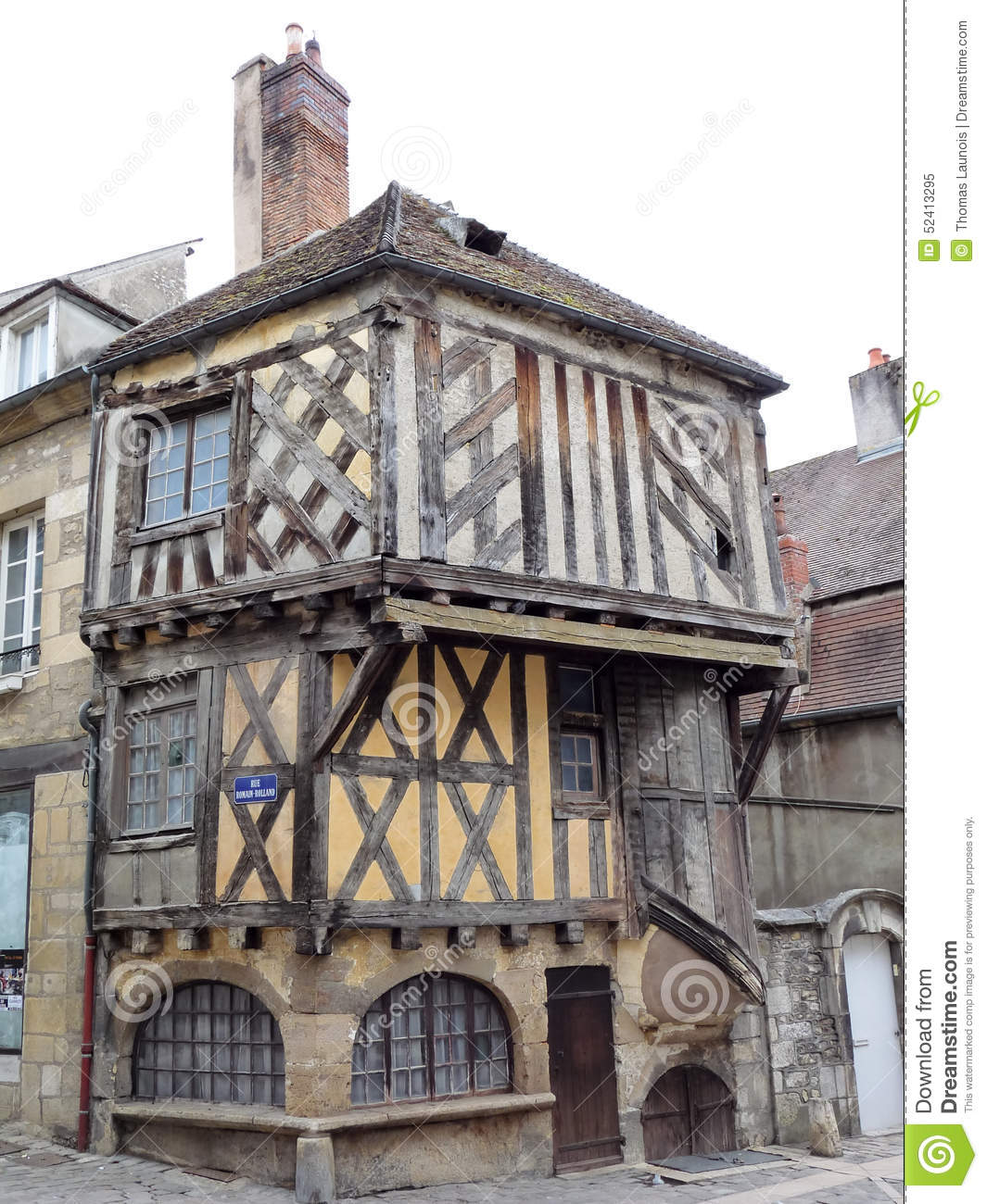 half timbered house in france stock image image of seine french 52413295. Black Bedroom Furniture Sets. Home Design Ideas