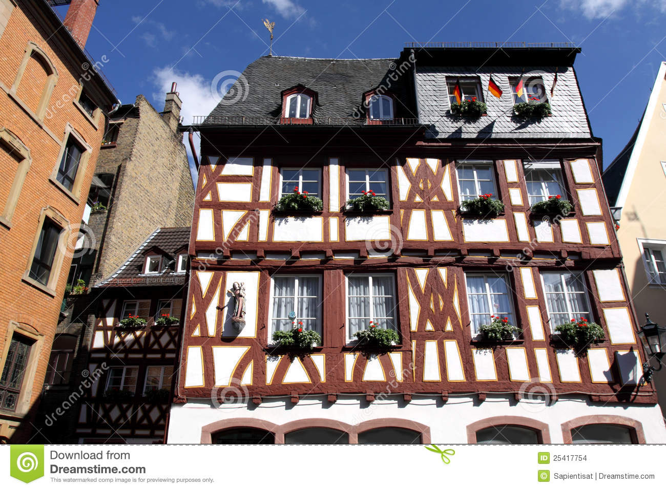 Half timbered house in germany stock images image 25417754 for Half timbered house plans