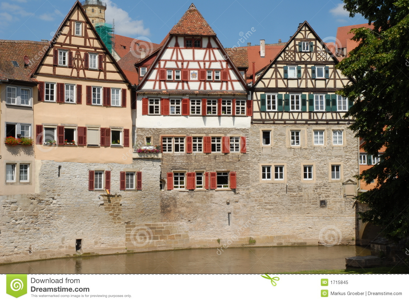 half timbered house in germany swabia royalty free stock photo image 1715845. Black Bedroom Furniture Sets. Home Design Ideas