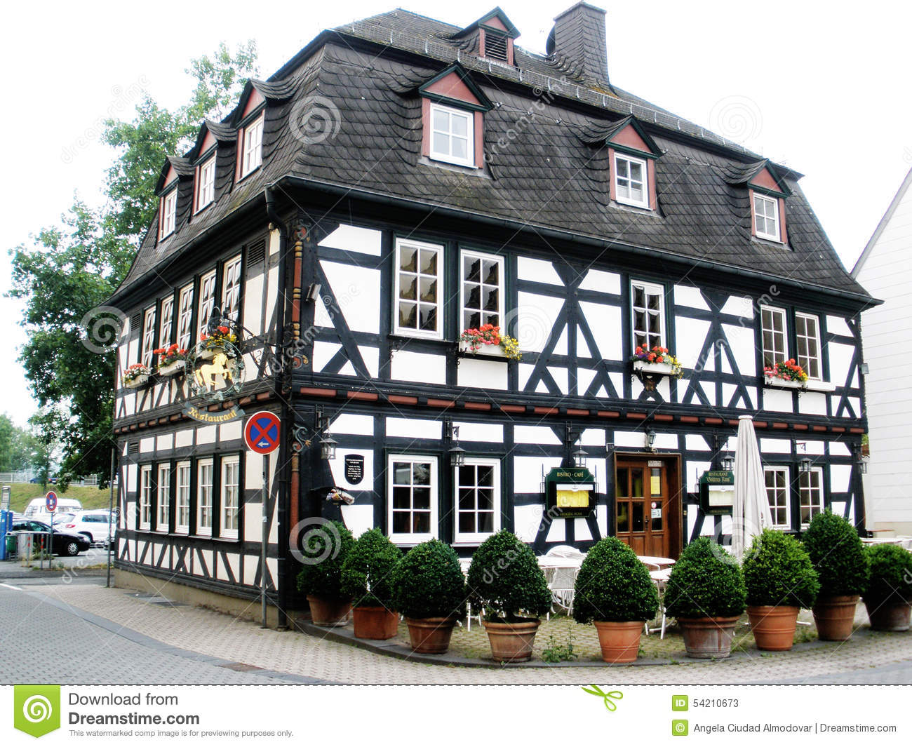 half timbered house in germany stock image image 54210673. Black Bedroom Furniture Sets. Home Design Ideas