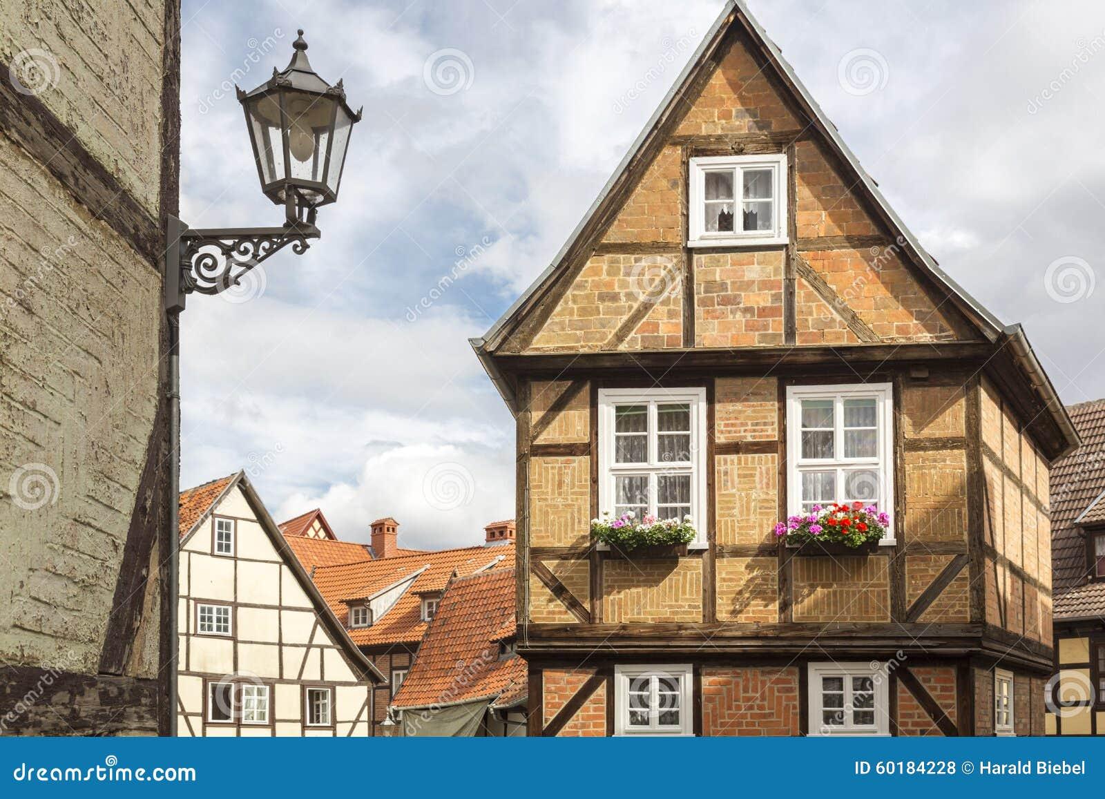half timbered house in quedlinburg germany stock photo image of landmark city 60184228. Black Bedroom Furniture Sets. Home Design Ideas