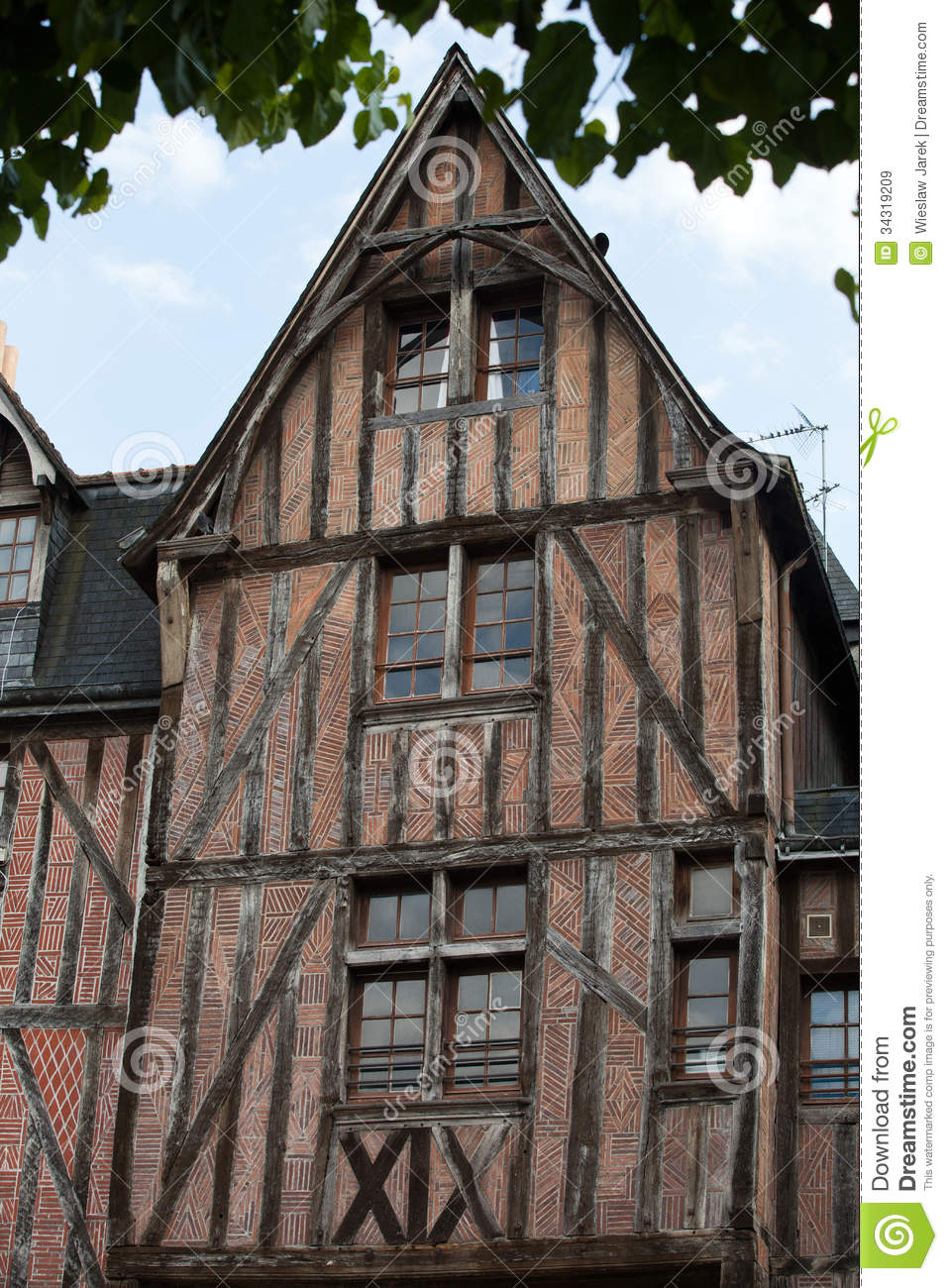 Half timbered house in tours royalty free stock images for Half timbered house plans