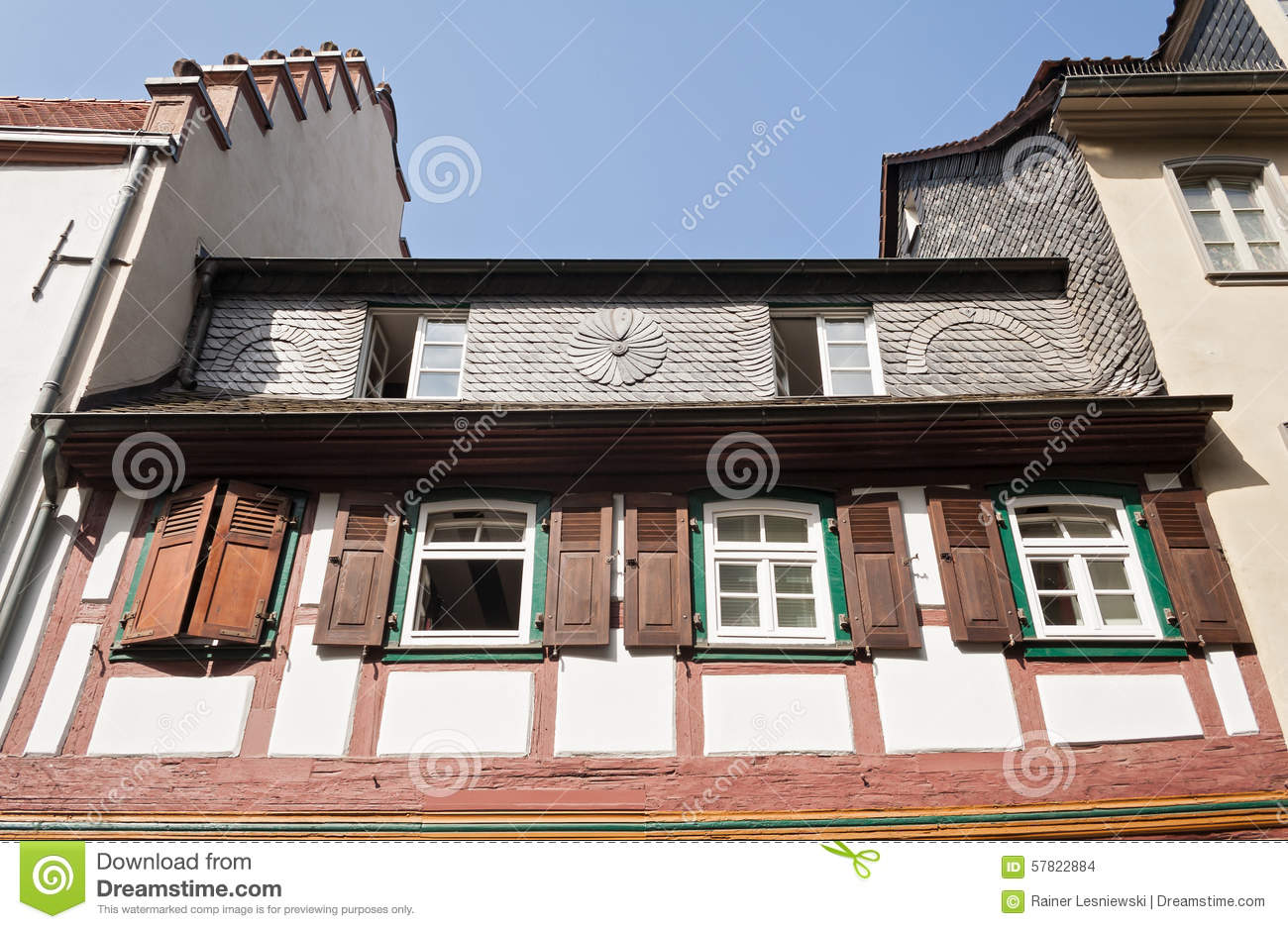Half timbered house stock photo image 57822884 for Half timbered house plans