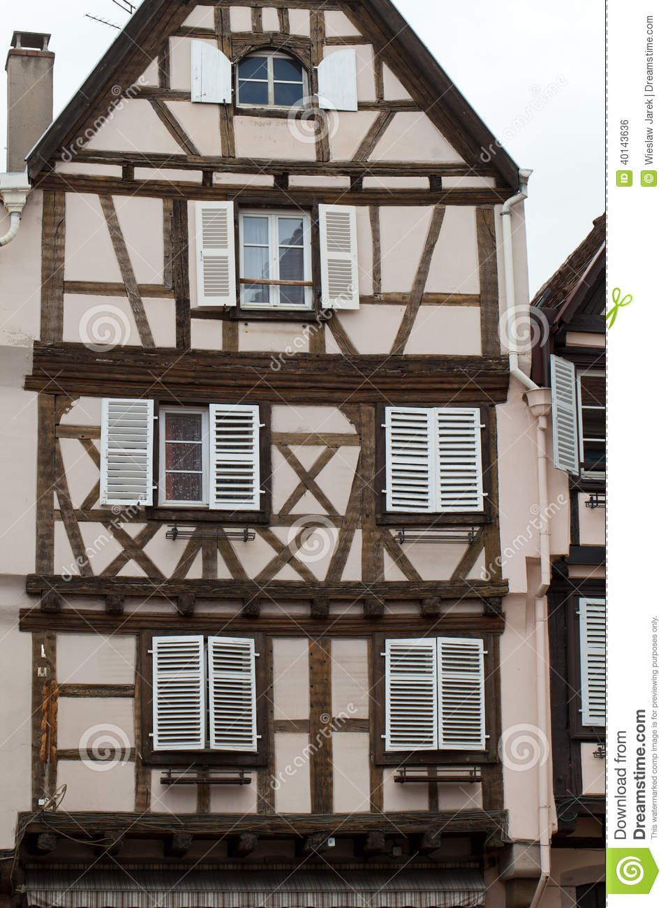 Half timbered houses of colmar stock photo image 40143636 for Half timbered house plans