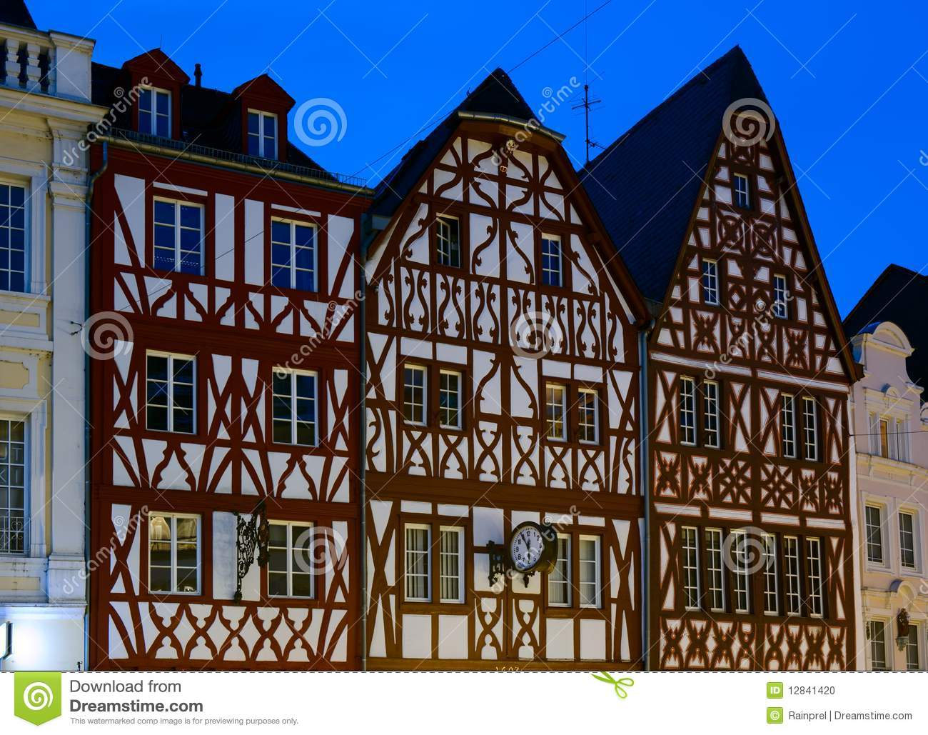 Half Timbered Houses In Europe Stock Photo Image 12841420