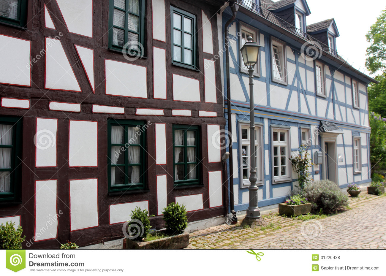 Half timbered houses in germany royalty free stock photos for Half timbered house plans
