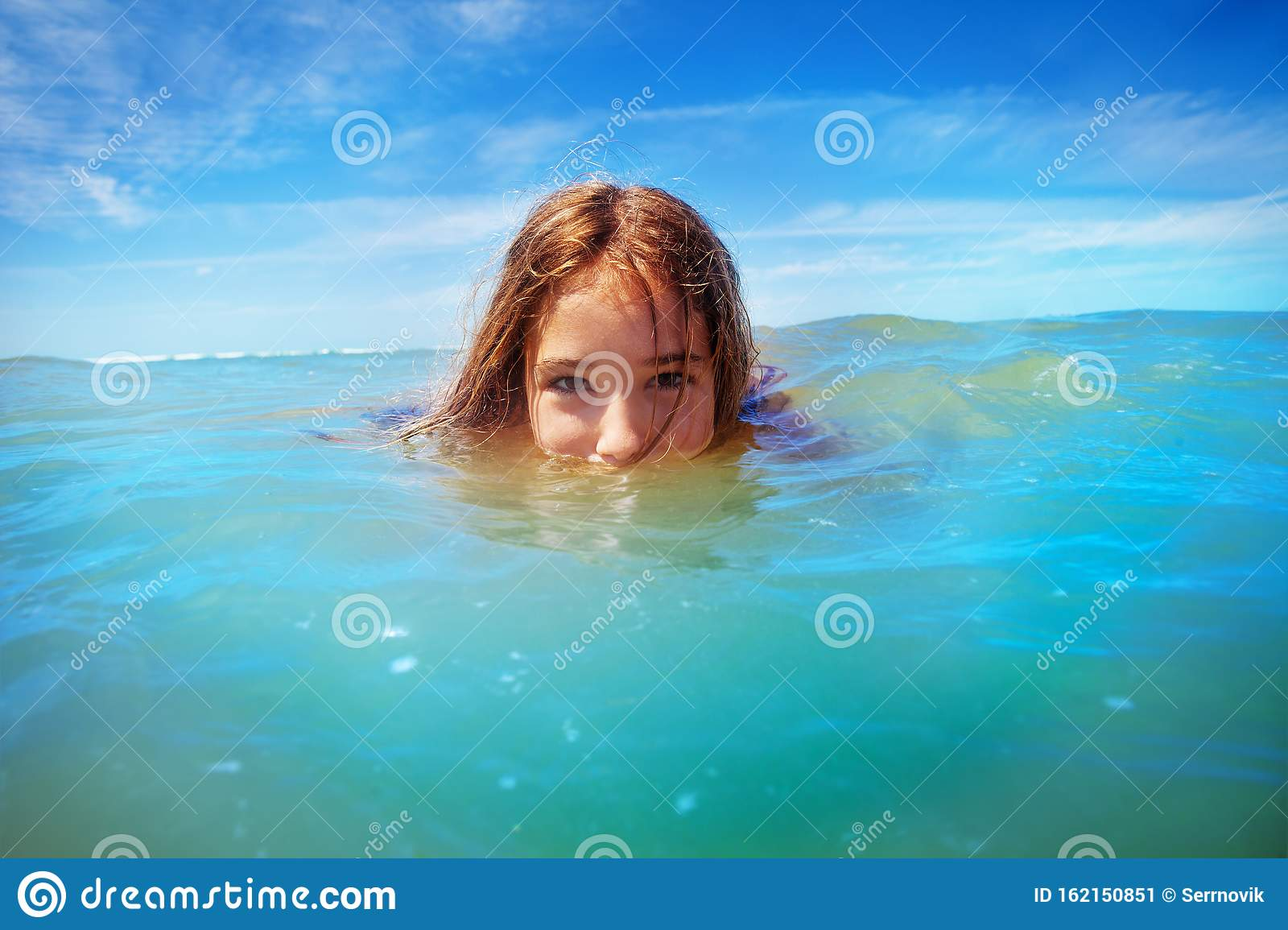 Young Woman Swimming Underwater In The Ocean Stock Footage