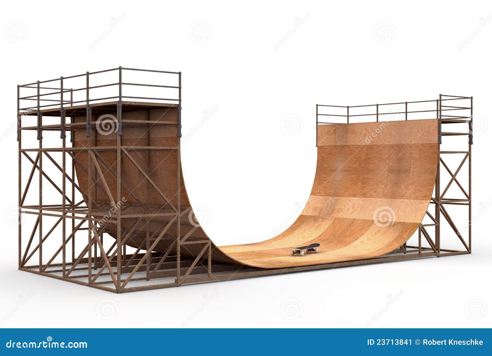 halfpipe with skateboard stock illustration image of skate 23713841. Black Bedroom Furniture Sets. Home Design Ideas