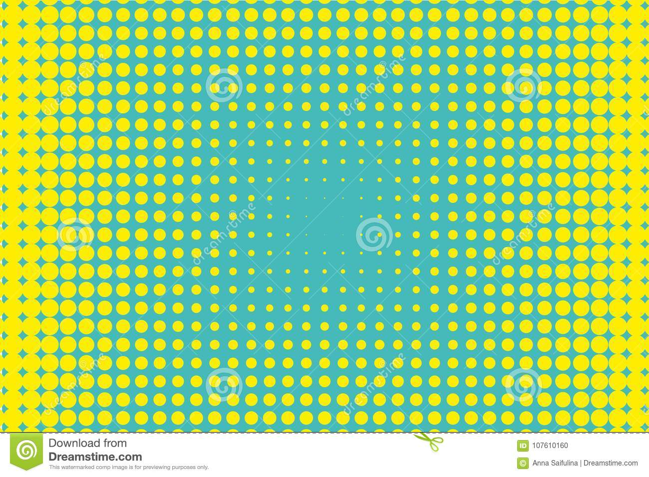 Halftone Background. Digital Gradient. Dotted Pattern With Circles ...