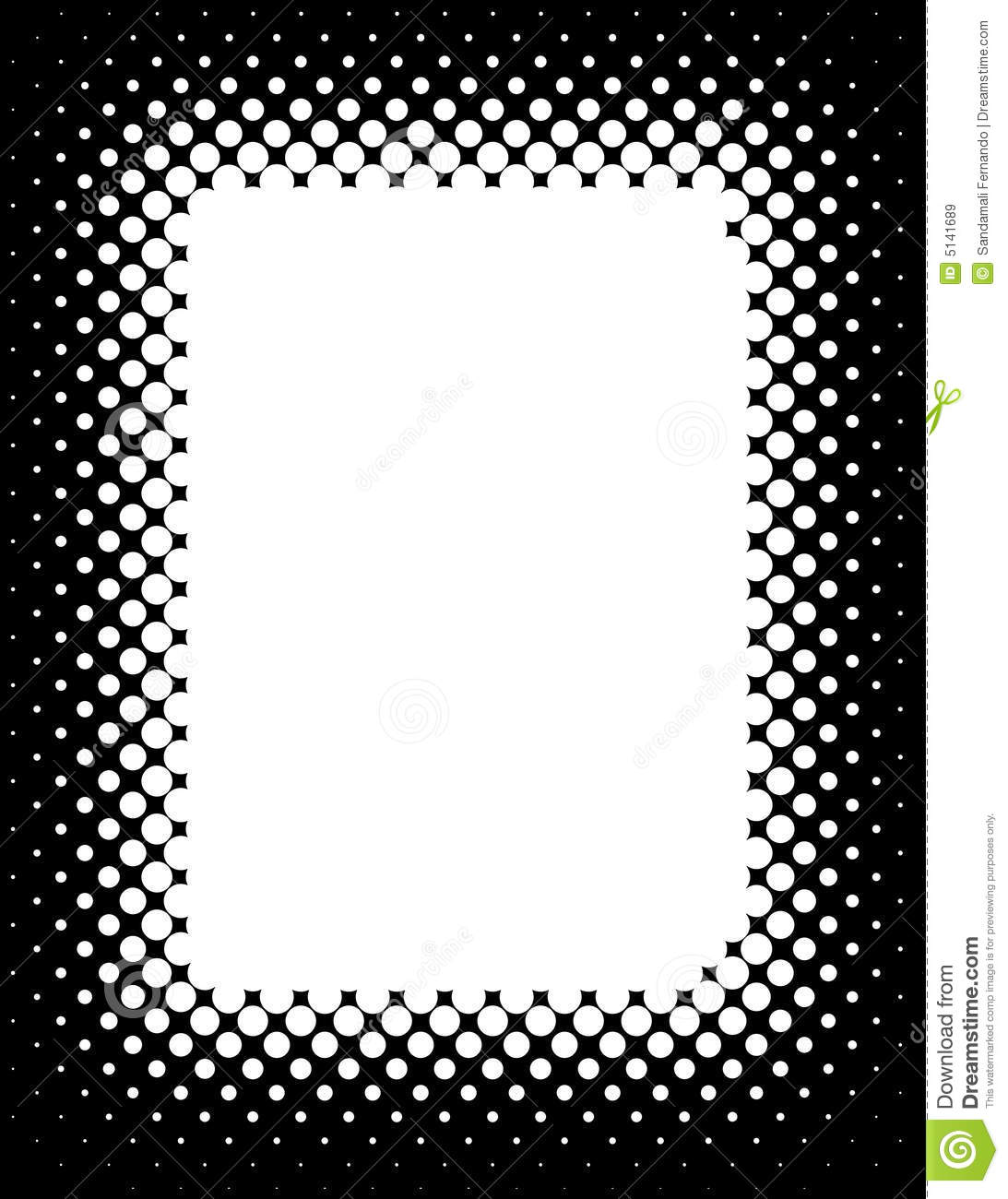 Halftone Border Royalty Free Stock Images - Image: 5141689