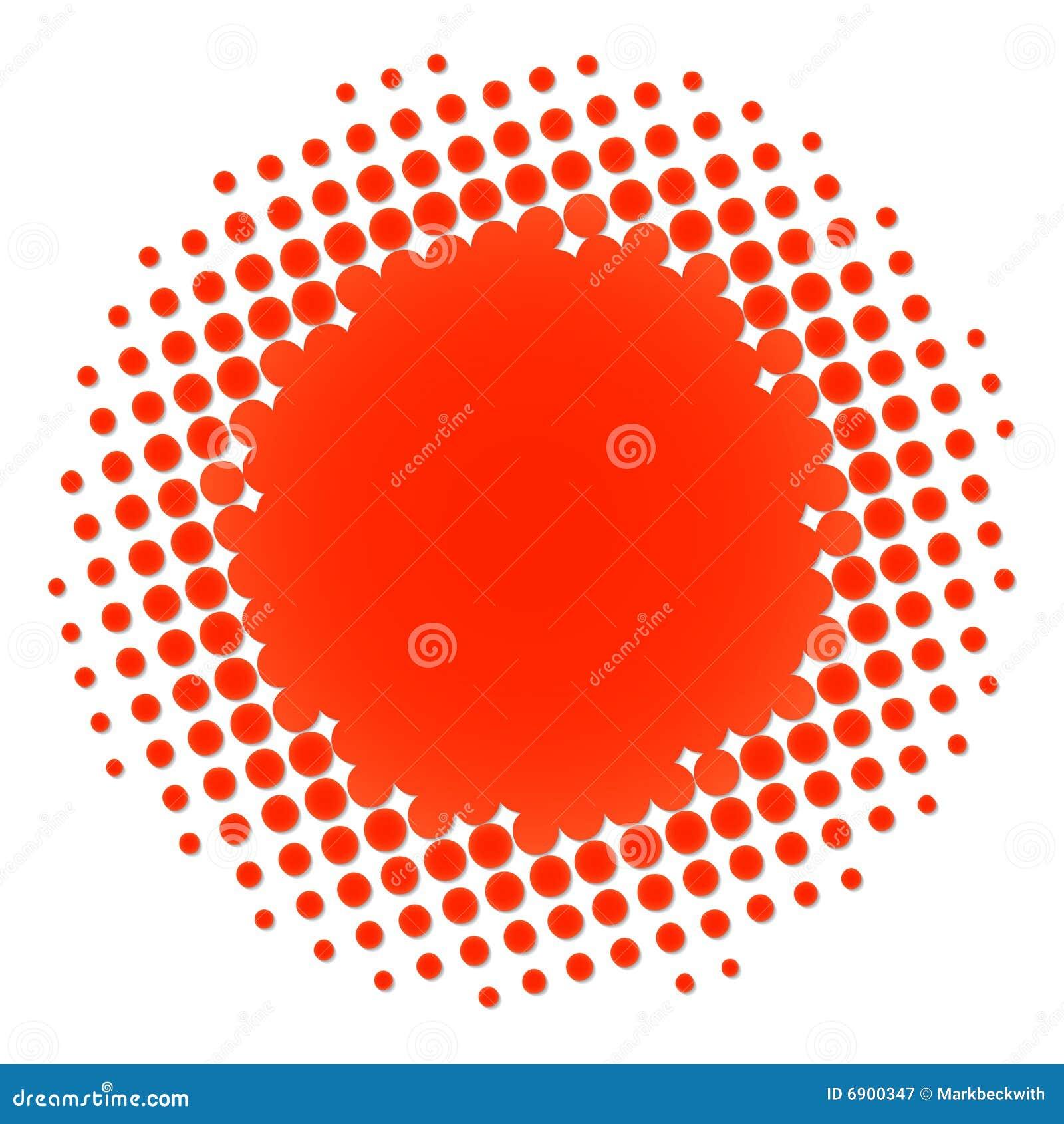 Halftone cirkelsinaasappel
