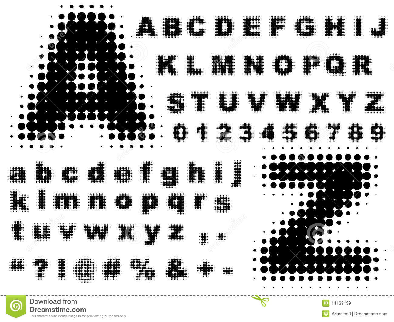 Halftone complete alphabet vector royalty free stock - Alphabet complet ...