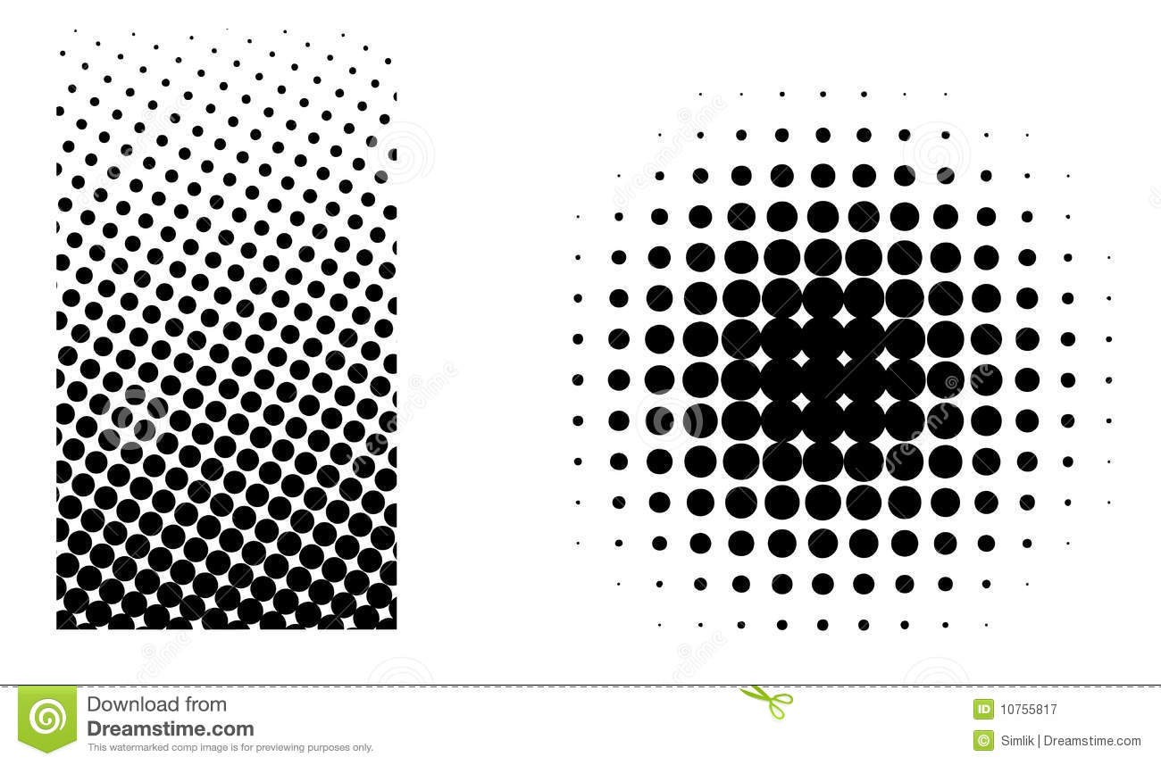 Halftone Elements Vector Royalty Free Stock Photography