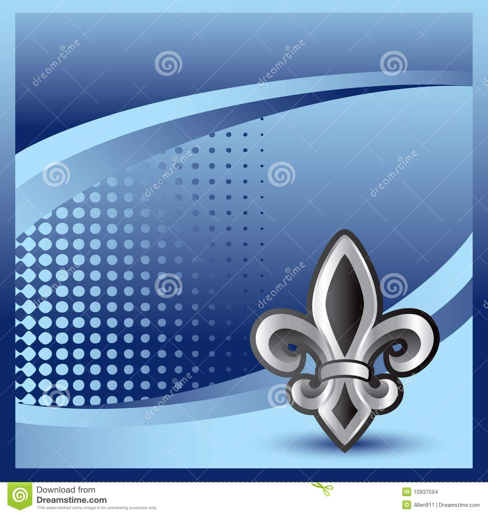 Halftone lis de fleur знамени голубой