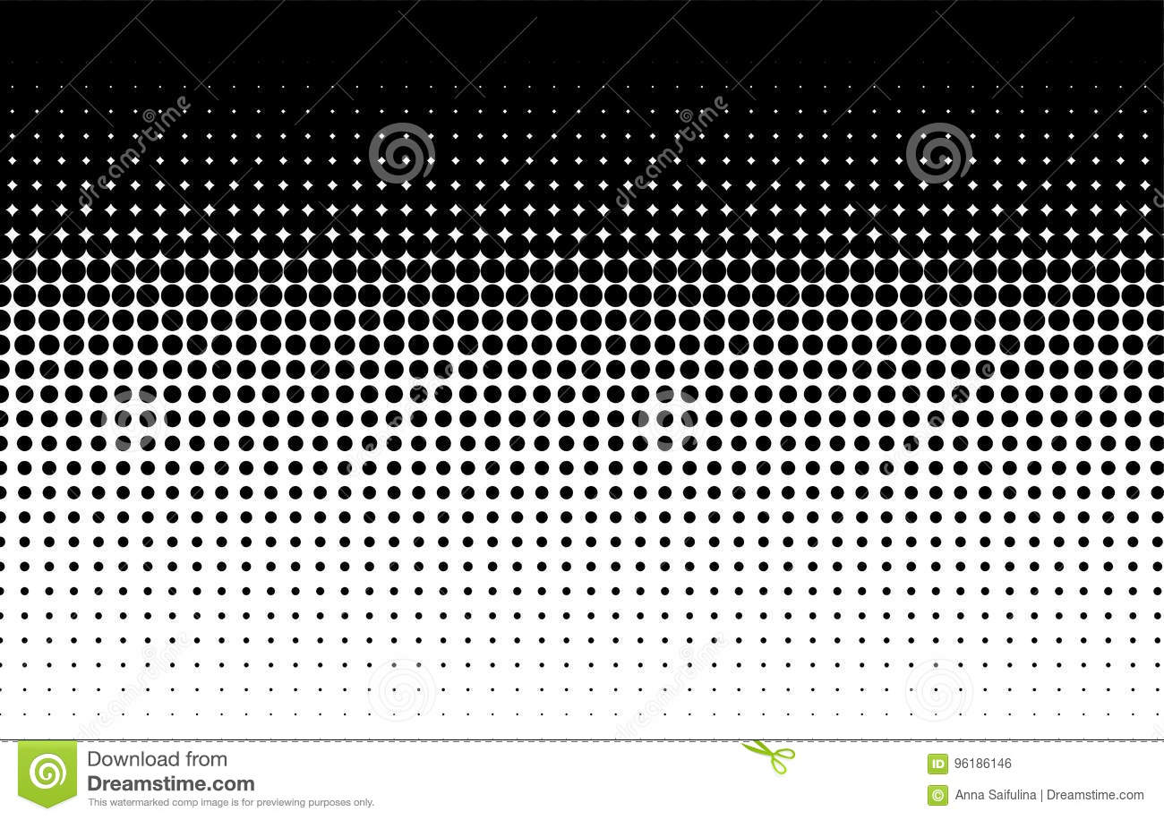 Halftone pattern. Comic background. Black and white
